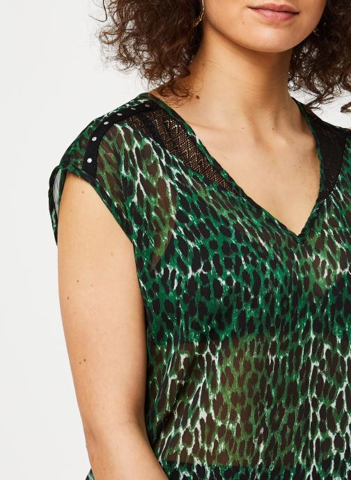 Vêtements IKKS Women Top BQ11235 Vert vue face