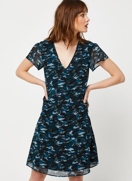 Kleding IKKS Women Robe BQ30265 Blauw detail