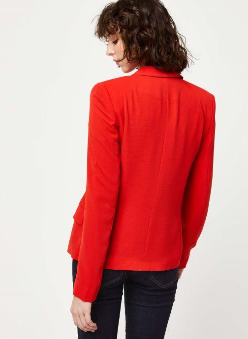 Vêtements IKKS Women Veste BQ40195 Rouge vue portées chaussures