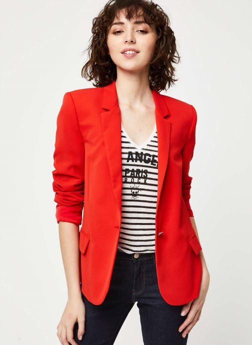 Vêtements IKKS Women Veste BQ40195 Rouge vue détail/paire