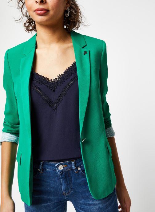 Vêtements IKKS Women Veste BQ40195 Vert vue détail/paire