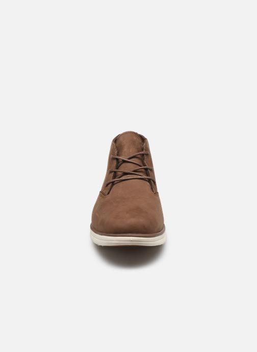 Baskets Timberland Bradstreet  Plain Toe Chukka Marron vue portées chaussures