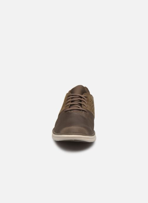 Baskets Timberland Bradstreet Fabric/Leather Oxford Marron vue portées chaussures