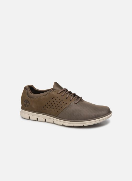 Trainers Timberland Bradstreet Fabric/Leather Oxford Brown detailed view/ Pair view