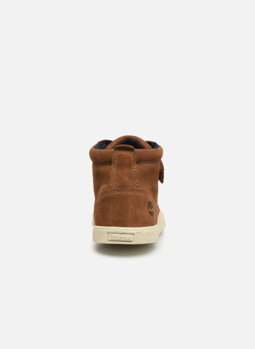 Ankle boots Timberland Abercorn Chukka Bungee Lace with Strap Brown view from the right