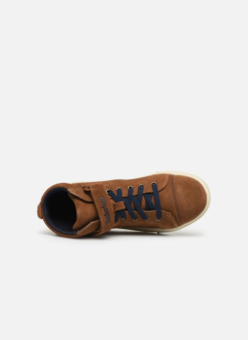 Ankle boots Timberland Abercorn Chukka Bungee Lace with Strap Brown view from the left