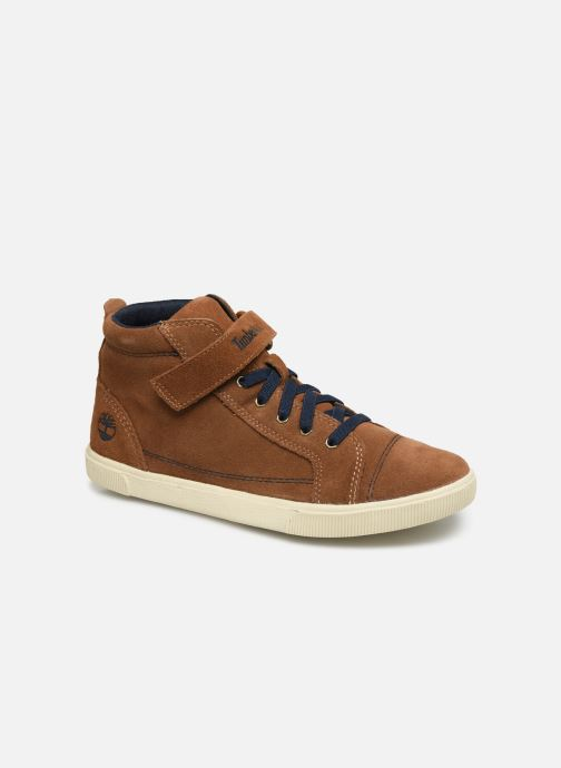 Ankle boots Timberland Abercorn Chukka Bungee Lace with Strap Brown detailed view/ Pair view