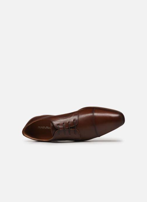 Schnürschuhe Marvin&Co Micali braun ansicht von links