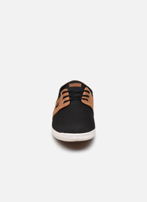 Sneaker Faguo Tennis Cypress Cotton Leather schwarz schuhe getragen