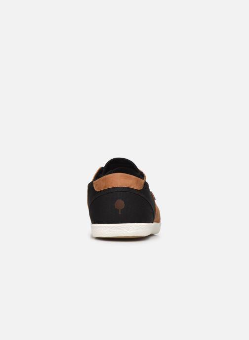 Sneaker Faguo Tennis Cypress Cotton Leather schwarz ansicht von rechts