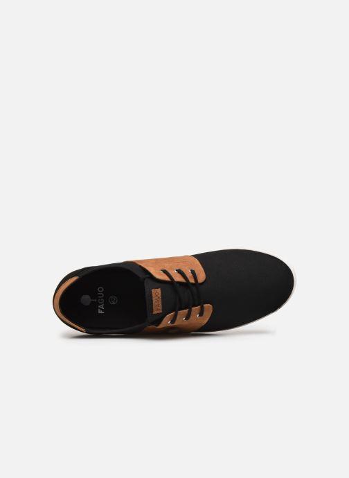 Sneaker Faguo Tennis Cypress Cotton Leather schwarz ansicht von links
