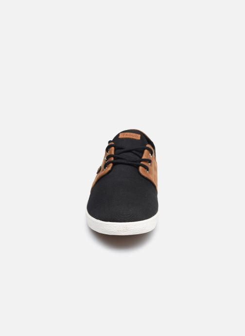 Deportivas Faguo Tennis Cypress Cotton Leather Negro vista del modelo