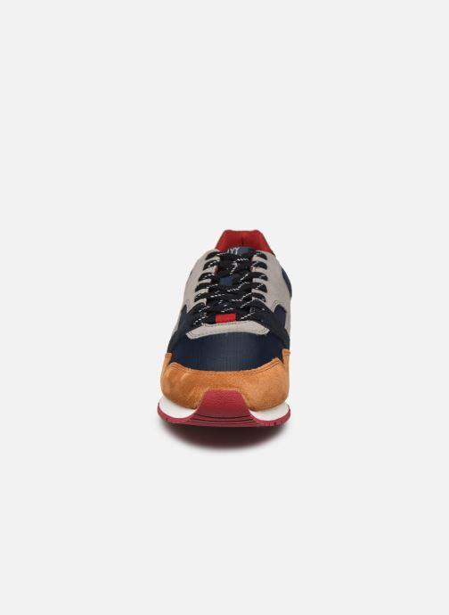 Baskets Faguo Runnings Ivy Syn Wov Suede Bleu vue portées chaussures