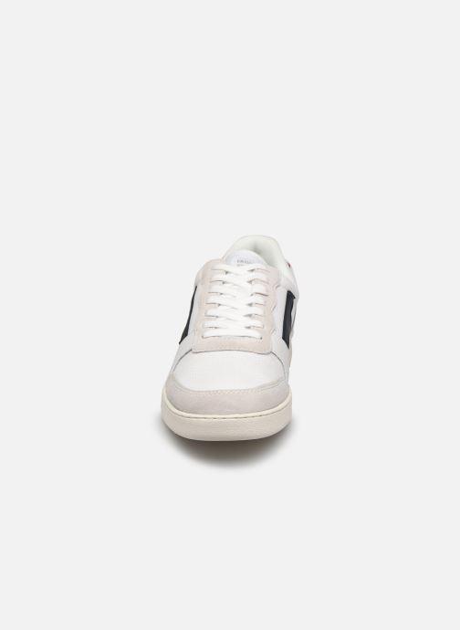 Baskets Faguo Baskets Hazel Syn Woven Suede Blanc vue portées chaussures