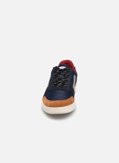 Baskets Faguo Baskets Hazel Syn Woven Suede Bleu vue portées chaussures