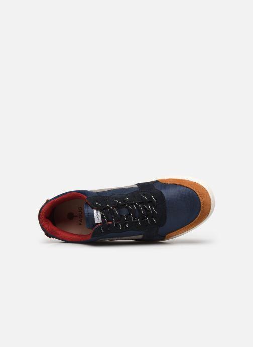 Sneaker Faguo Baskets Hazel Syn Woven Suede blau ansicht von links
