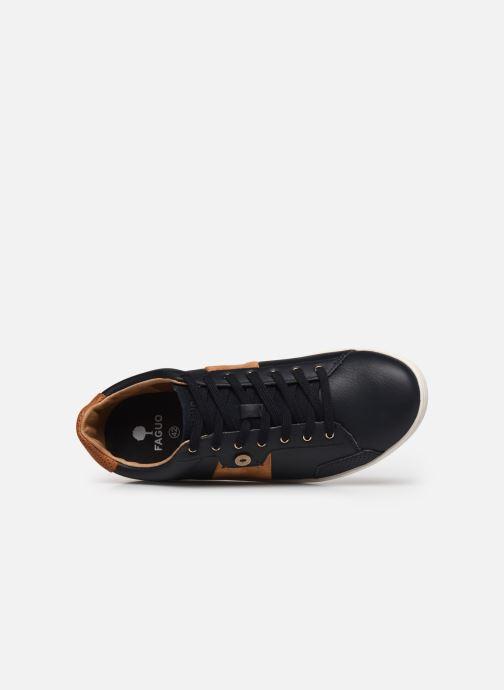 Baskets Faguo Tennis Hosta Leather Suede v Noir vue gauche