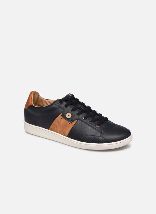 Baskets Faguo Tennis Hosta Leather Suede v Noir vue détail/paire