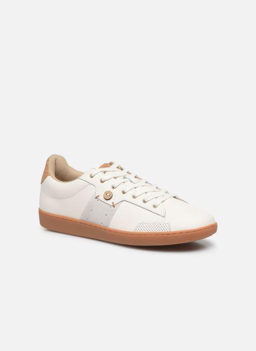Baskets Faguo Tennis Hosta Leather Suede v Blanc vue détail/paire