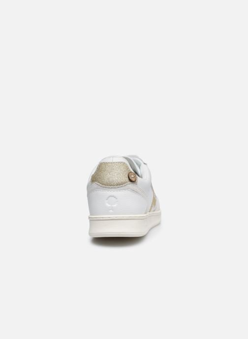Deportivas Faguo Baskets Hazel Leather Blanco vista lateral derecha