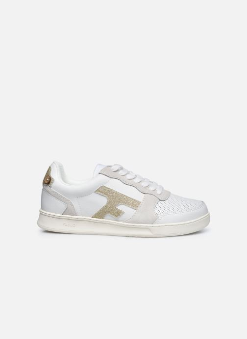 Deportivas Faguo Baskets Hazel Leather Blanco vistra trasera