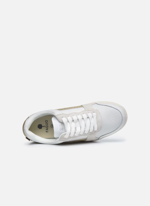 Deportivas Faguo Baskets Hazel Leather Blanco vista lateral izquierda