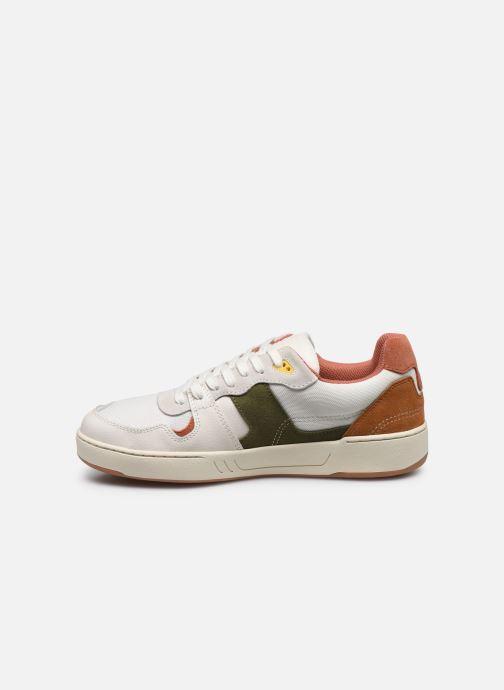 Sneakers Faguo Baskets Ceiba Syn Wov Leather Wit voorkant