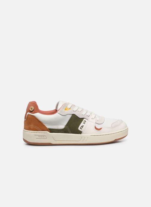 Sneakers Faguo Baskets Ceiba Syn Wov Leather Wit achterkant