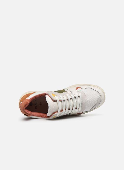Sneakers Faguo Baskets Ceiba Syn Wov Leather Wit links