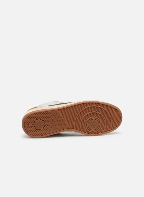 Sneakers Faguo Baskets Ceiba Syn Wov Leather Wit boven