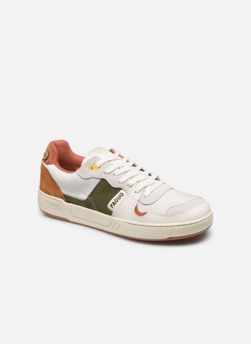Sneakers Faguo Baskets Ceiba Syn Wov Leather Wit detail