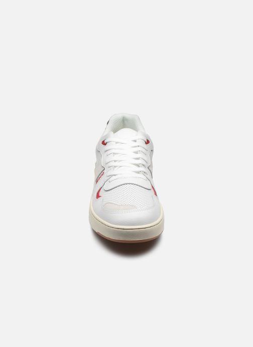 Baskets Faguo Baskets Ceiba Leather Suede Blanc vue portées chaussures