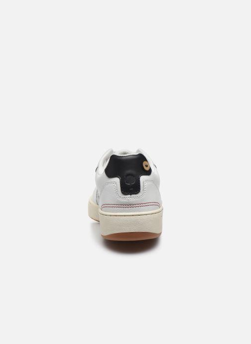 Baskets Faguo Baskets Ceiba Leather Suede Blanc vue droite