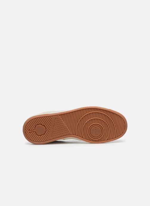 Baskets Faguo Baskets Ceiba Leather Suede Blanc vue haut