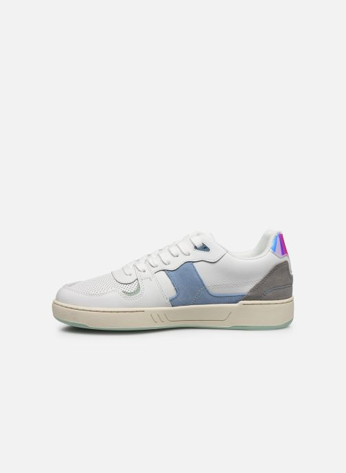 Deportivas Faguo Baskets Ceiba Leather Suede Blanco vista de frente