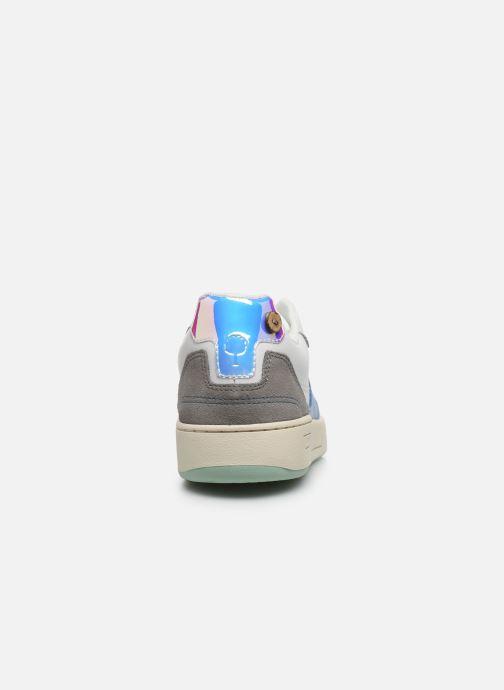 Sneaker Faguo Baskets Ceiba Leather Suede weiß ansicht von rechts
