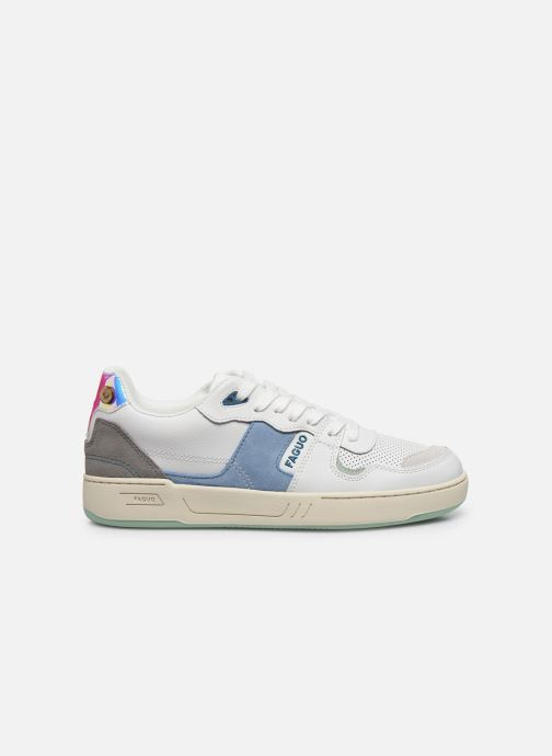 Sneaker Faguo Baskets Ceiba Leather Suede weiß ansicht von hinten