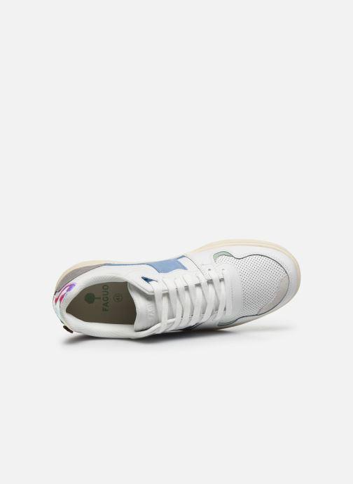 Sneaker Faguo Baskets Ceiba Leather Suede weiß ansicht von links