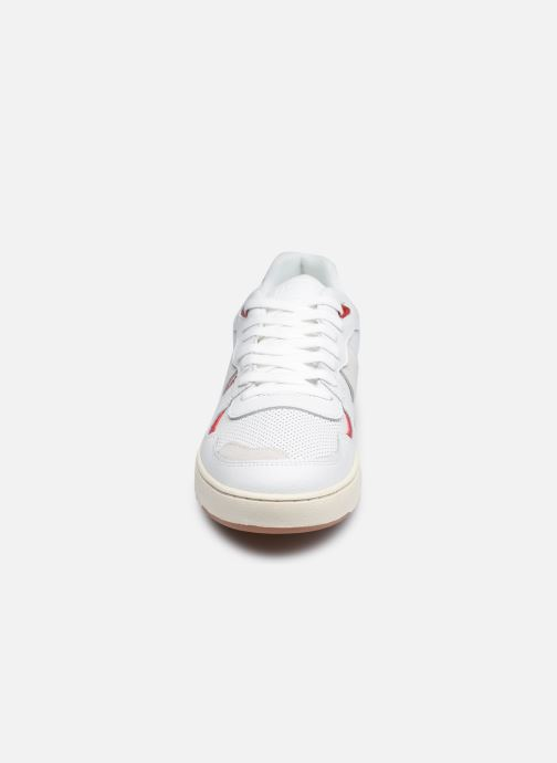Deportivas Faguo Baskets Ceiba Leather Suede Blanco vista del modelo