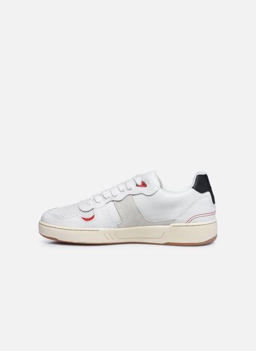 Sneaker Faguo Baskets Ceiba Leather Suede weiß ansicht von vorne