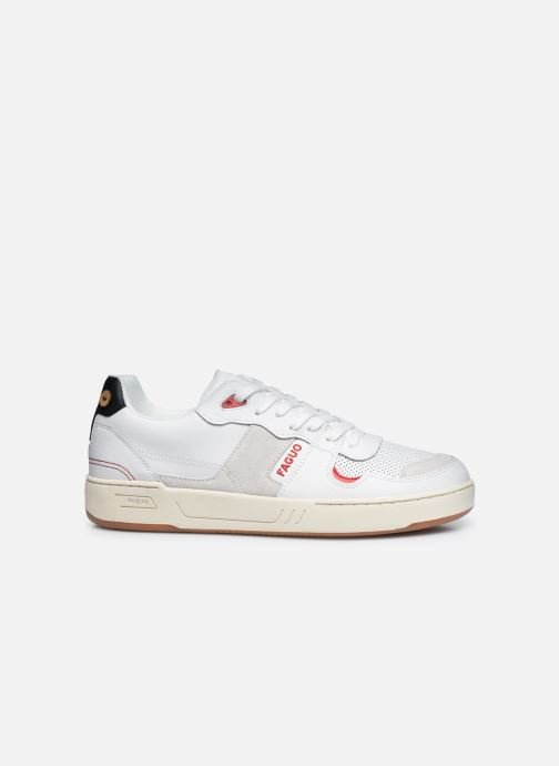 Deportivas Faguo Baskets Ceiba Leather Suede Blanco vistra trasera