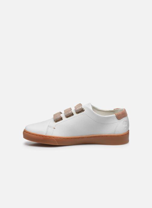 Baskets Faguo Tennis Aspenlows Leather Blanc vue face