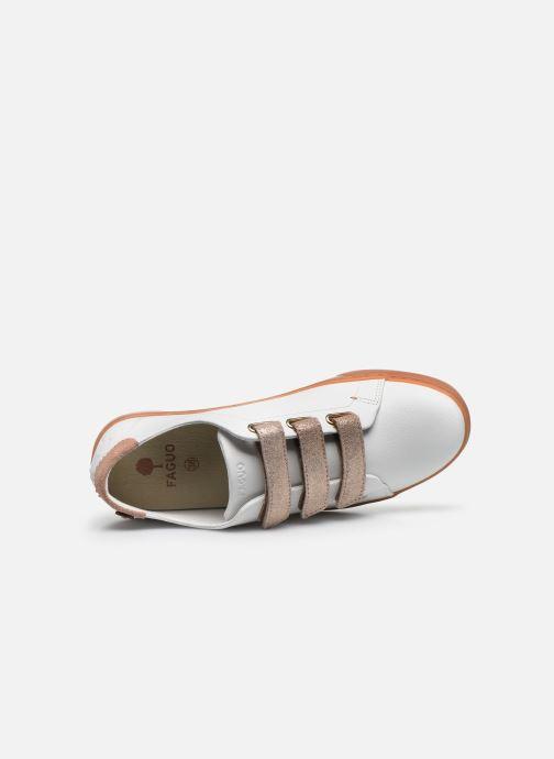 Baskets Faguo Tennis Aspenlows Leather Blanc vue gauche