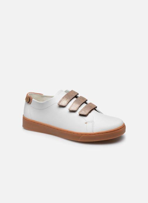 Baskets Faguo Tennis Aspenlows Leather Blanc vue détail/paire