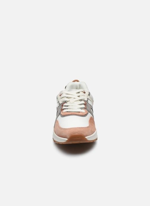 Baskets Faguo Runnings Willow Syn Wov Suede Blanc vue portées chaussures