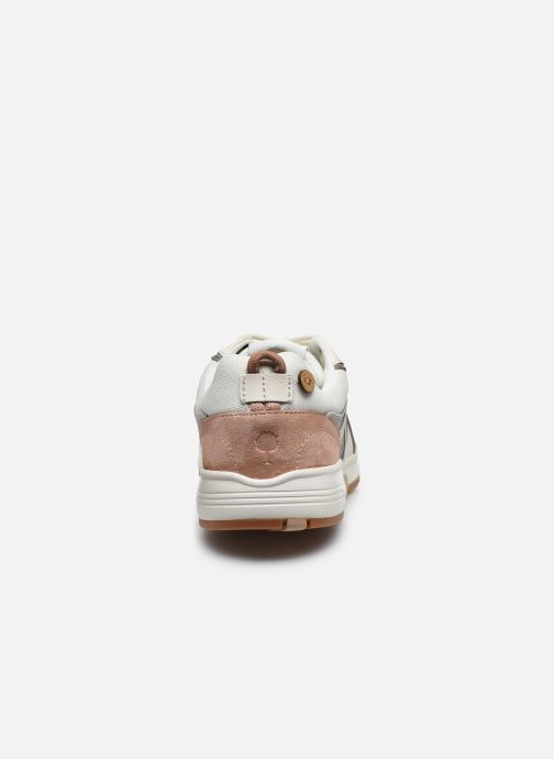 Deportivas Faguo Runnings Willow Syn Wov Suede Blanco vista lateral derecha