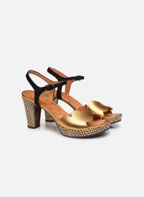 Sandales et nu-pieds Chie Mihara EDELIRA Or et bronze vue 3/4