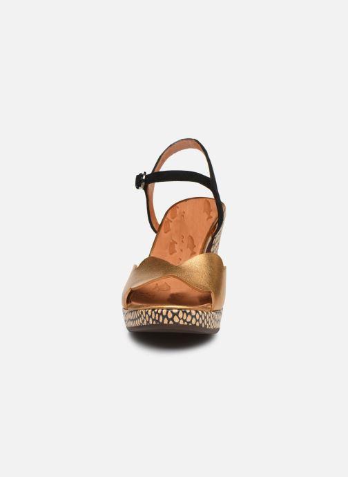 Sandales et nu-pieds Chie Mihara EDELIRA Or et bronze vue portées chaussures