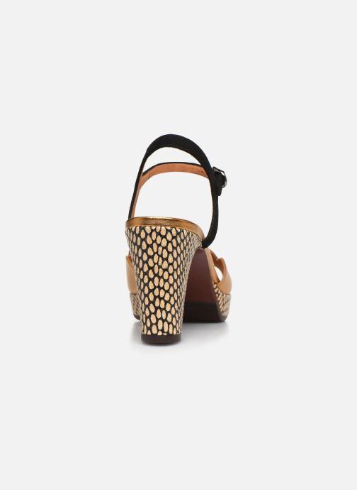 Sandales et nu-pieds Chie Mihara EDELIRA Or et bronze vue droite