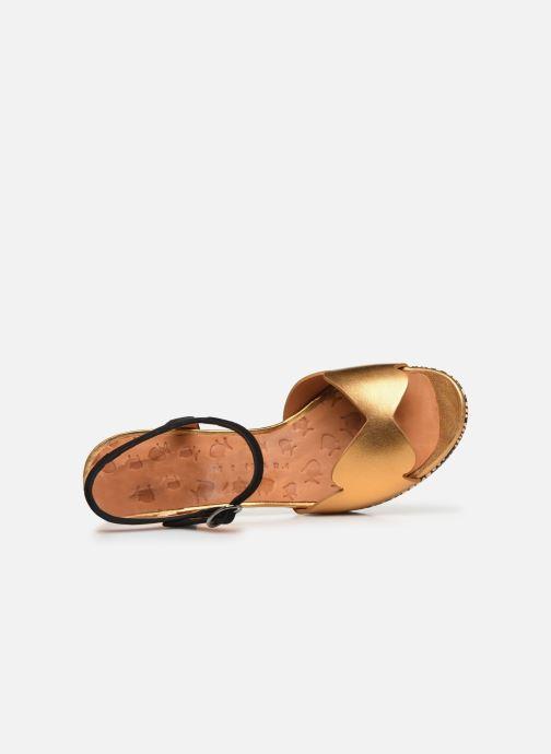 Sandales et nu-pieds Chie Mihara EDELIRA Or et bronze vue gauche